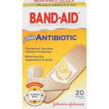 Band-Aid Brand Adhesive Bandages Antibiotic Assorted