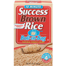 Success Brown Natural Whole Grain Boil-In-Bag 4 ct Rice