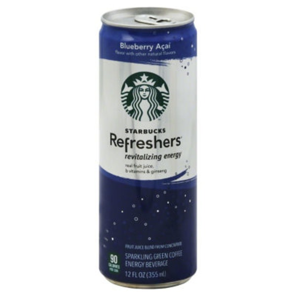 Starbucks Refreshers Revitalizing Energy Blueberry Acai Energy Drink