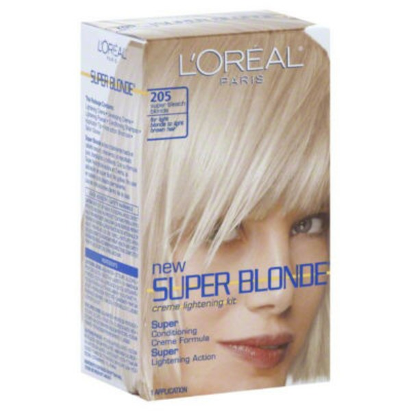 Super Blonde 205 Super Bleach Blonde Creme Lightening Kit