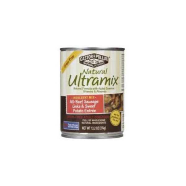 Natural Ultramix Dog Food, Adult, Grain-Free, All-Beef Sausage Links & Sweet Potato Entree