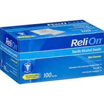 ReliOn Sterile Alcohol Swabs
