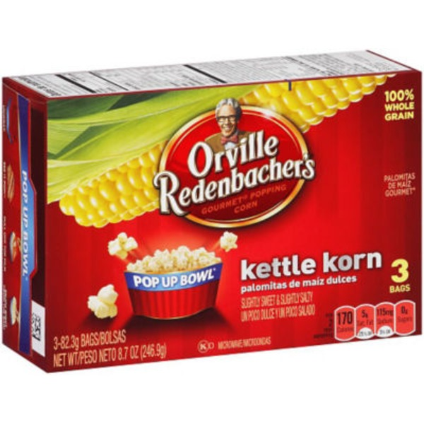 Orville Redenbacher's Pop Up Bowl Gourmet Kettle Korn Microwave Popcorn