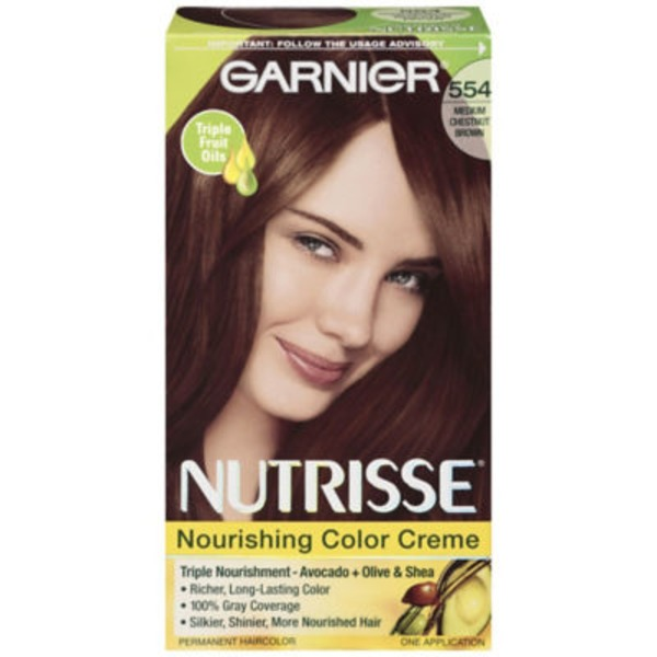 Nutrisse® 554 Medium Chestnut Brown (Roasted Pecan) Nourishing Color Creme