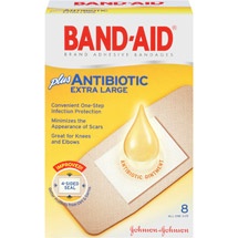 Band-Aid Brand Adhesive Bandages Antibiotic Extra Large All One Size