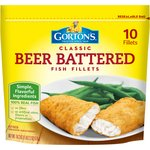 Gortons Beer Batter Crispy Battered 10 Ct Fish Fillets