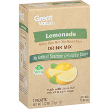Great Value Lemonade Drink Mix