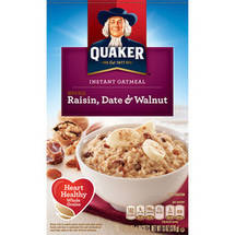 Quaker Raisin Date & Walnut Instant Oatmeal 10 Ct/13 Oz
