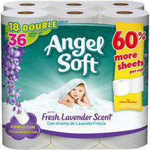 Angel Soft Bath Tissue Double Rolls with Fresh Lavender Scent