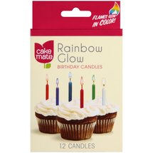 Cake Mate Rainbow Glow Birthday Candles