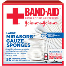 Band-Aid Sterile Mirasorb Gauze Sponges Large