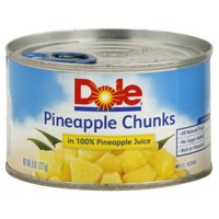 Dole Canned Fruit In 100% Pineapple Juice Pineapple Chunks