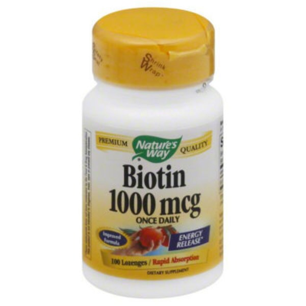 Nature's Way Biotin, 1000 mcg, Lozenges