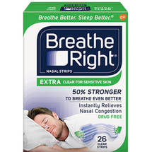 Breathe Right Extra Nasal Strips Clear Color Strips for Sensitive Skin Drug Free