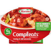 Hormel Compleats Cheese Manicotti with Meat Sauce