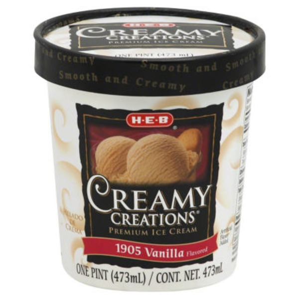 H-E-B Creamy Creations 1905 Vanilla Ice Cream