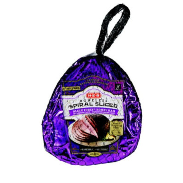 H-E-B Boneless Spiral Sliced Black Forest Honey Ham