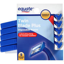 Equate Twin Blade Plus Disposable Razors