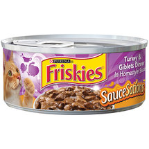 Purina Friskies SauceSations Turkey & Giblets Dinner in Homestyle Sauce Cat Food