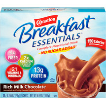Carnation Instant Breakfast Rich Milk Chocolate Powder 0.705 Oz Complete Nutritional Drink
