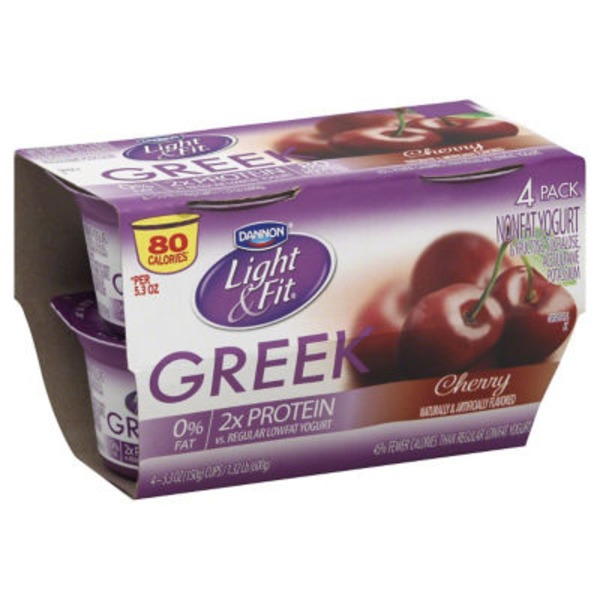 Dannon Light & Fit Greek Greek Cherry Nonfat Yogurt