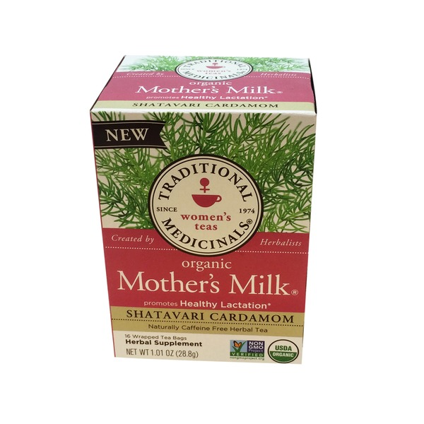 Traditional Medicinals Shavatari Cardamom Mothers Milk Herb Tea