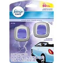 Febreze Car Vents Clips Midnight Storm Air Freshener