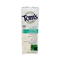 Tom's of Maine Enamel Strength Fluoride Toothpaste Peppermint