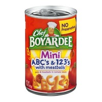 Chef Boyardee Mini ABC's & 123's Pasta with Meatballs