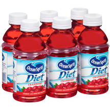 Ocean Spray Diet Cranberry Spray Juice 6 Ct/60 Fl Oz