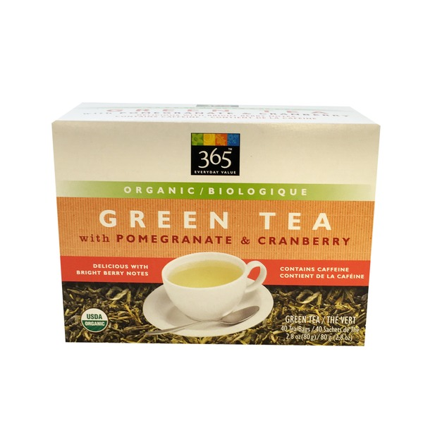 365 Organic Green Tea Pomegranate & Cranberry