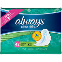 Always Ultra Thin Long Super Pads