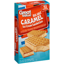 Great Value Sea Salt Caramel Ice Cream Sandwiches