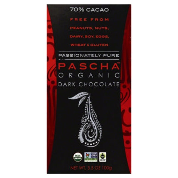 Pascha Organic Dark Chocolate 70% Cacao