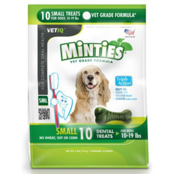 Vet IQ Minties Dental Treats For Dogs 10-19 Pounds
