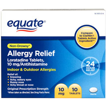 Equate Allergy Relief Tablets