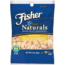 Fisher Chefs Naturals Dry Roasted Macadamia Chips