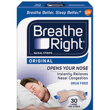 Breathe Right Large Tan Nasal Strips