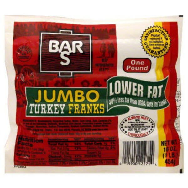 Bar S Turkey Jumbo Franks