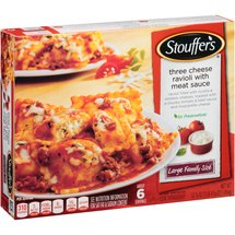 Stouffer's Large Family Size Three Cheese Ravioli with Meat Sauce