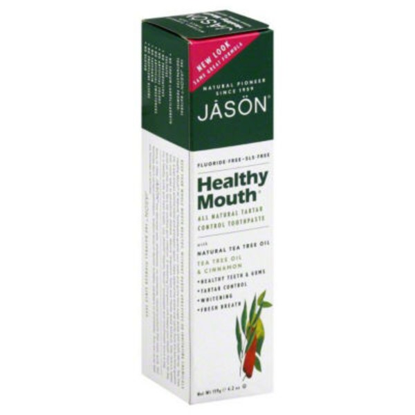 Jason Toothpaste Healthy Mouth Anti-Plaque & Tartar Control Tea Tree Oil & Cinnamon