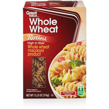 Great Value Whole Wheat Rotini Pasta
