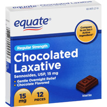 Equate Regular Strength Chocolated Laxative