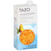 Tazo Iced Peachy Green Tea and Fruit Juice Blend Beverage Concentrate