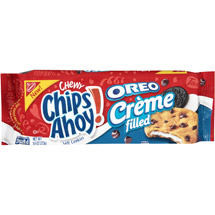 Nabisco Chewy Chips Ahoy! Oreo Creme Filled Soft Cookies