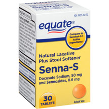 Equate Senna-S Natural Laxative Plus Stool Softener Tablets