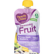 Parent's Choice Squeezable Fruit & Yogurt Banana  Blueberry & Yogurt