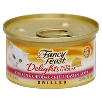 Fancy Feast Delights Grilled Chicken & Cheddar Cheese Feast in Gravy Cat Food