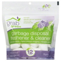 Grab Green Garbage Disposal Freshner & Cleaner, Thyme with Fig Leaf