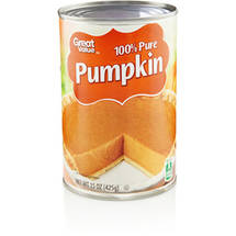 Great Value 100% Pure Pumpkin